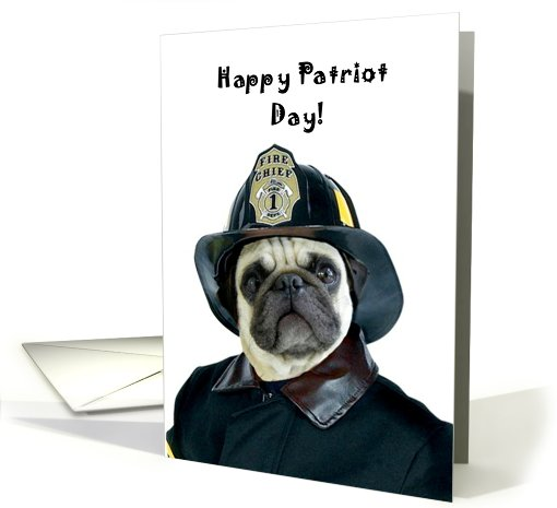 Patriot Day Fireman Pug by: RITMO BOXER DESIGNS