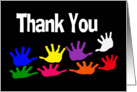 Thanks (Thank You card with Colorful Hand Prints) card