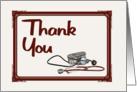 Medical Staff Thank You - Stethoscope/BP Cuff card