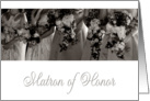 Matron of Honor Invitation card