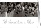 Be My Bridesmaid Invitation card