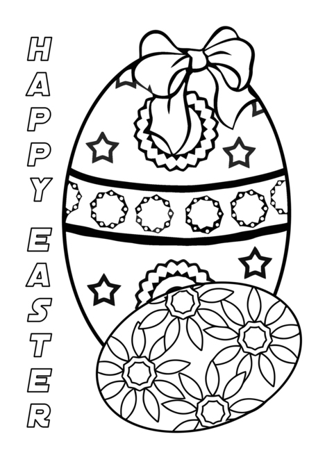 Buy e greeting cards for kids - Happy Easter Coloring Card For Kids card