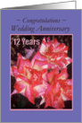 Wedding Anniversary - 12 years - Roses card