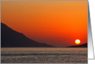Dodecanese sunset, Blank Note Card