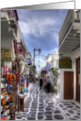 Mykonos Shops, Mykonos, Greece - Blank Note Card
