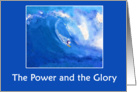 Power and Glory Surfing Watercolor card