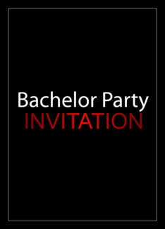 Bachelor Party Invitation Greeting Card