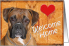 Funny Welcome Home from Dog card