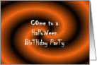 Come to a Halloween Birthday Party card