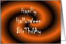 Halloween Birthday Party card