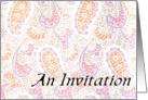 Paisley Invitation card