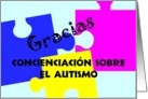 Autism Awareness Thank You Spanish card
