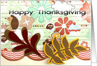 Woodland Thanksgiving card