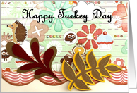 Quirky Turkey Day card