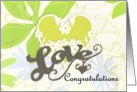 Botanical Congratulations Commitment Ceremony card
