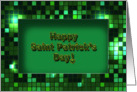 St. Patrick's Day - Green Pixels - Frame card