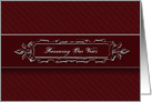 RenewingWeddingVows - Silver Burgandy - Elegant card
