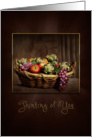 OLD WORLD/YESTERDAY COLLECTION - Basket of Fruit card