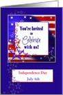 PATRIOTIC INVITATION - STARS STRIPES - TEXT AREA - PERSONALIZE card