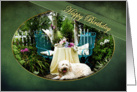 Birthday - pet/dog- Cottage Garden - pet/dog Tea For Two - Trellis card