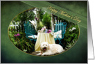 MOTHER'S DAY - pet/dog- Cottage Garden - pet/dog Tea For Two - Trellis card