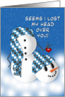 Romantic Fun - Snowman - Fascination - Love card