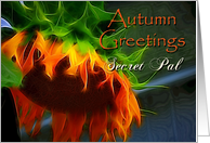 Autumn Greetings - Secret Pal - Large Sunflower card