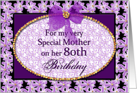 Mother - 80th Birthday card