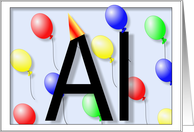 Al's Birthday Invitation, Party Balloons card