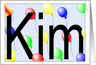 Kim's Birthday Invitation, Party Balloons card