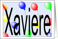 Xaviere's Birthday Invitation, Party Balloonss card