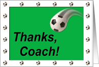 Soccer Coach Thanks card