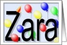 Birthday Balloons for Zara card