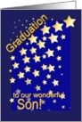 Graduation Stars, Son, from Parents card