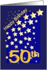 Happy Birthday Stars, 50 card