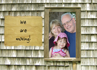 Moving Announcement, Weathered Shingles Greeting Card