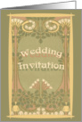 Wedding Invitation Art Nouveau card