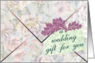 Wedding Congratulations, Money Enclosed card