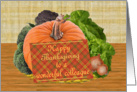 Thanksgiving Wishes To Colleague card