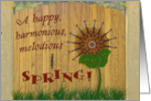 Happy Spring, Violin Sunflower card