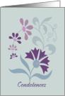 Floral Condolences Card