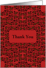 Thank You, Decorative Floral Frame card