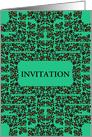 Invitation, Decorative Floral Frame card