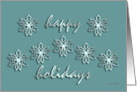 Happy Holidays, Stylized Snowflakes, Elegant Card