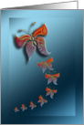 ornamental butterflies card