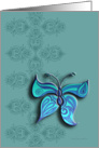 ornamental elegant butterfly card