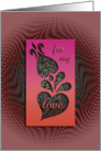 for my love, cut-out decorative design look, ornamental style card