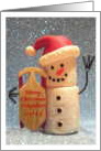 Merry Christmas Neighbor, 2013, Snow man, Sled, Santa Hat, card