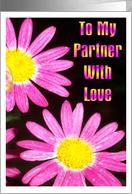 Lesbian, Partner, Anniversary card