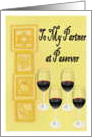 Passover, Partner, Seder, Wine Glass card